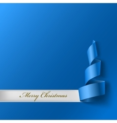 Christmas tree from ribbon vector image
