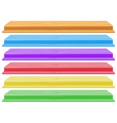 Colourful shelves vector image vector image