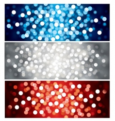 defocused lights vector image vector image