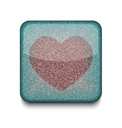 favorites heart icon vector image vector image