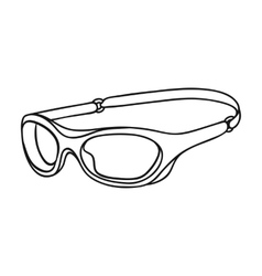 Glasses for swimming icon in outline style vector