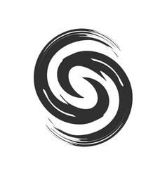 Initial s zen refresh symbol brush vector