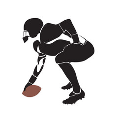 isolated football player vector image