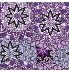 Lilac seamless design in oriental style stellar vector