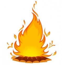 Log fire vector