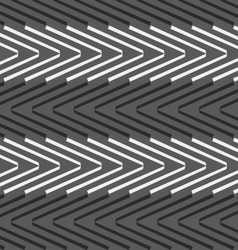 Monochrome pattern with black and white chevrons vector image