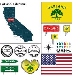 Oakland California set vector image vector image