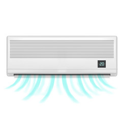 realistic detailed air conditioner vector image