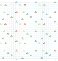 seamless pattern of triangles primed on vector image vector image