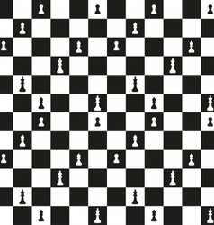 Seamless pattern with chessboard vector