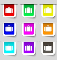 suitcase icon sign Set of multicolored modern vector image