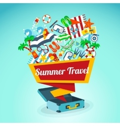 Summer Travel Concept Poster vector image vector image