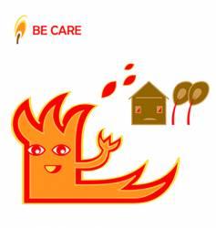warning illustration vector image vector image