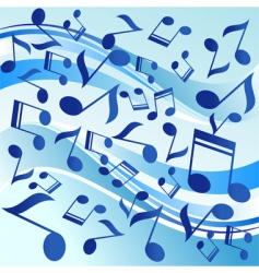 Dancing notes vector