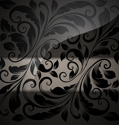 Black seamless floral wallpaper vector