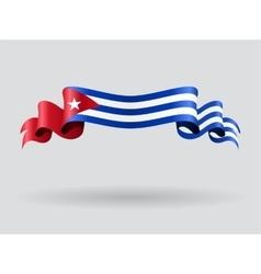 Cuban wavy flag vector