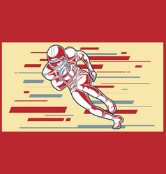 American football sign a player running with the vector