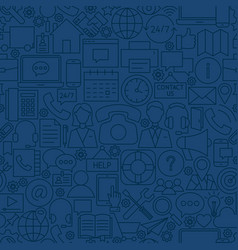 line contact us seamless pattern vector image