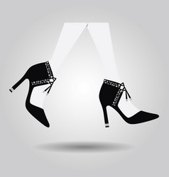 abstract close up walking spanish high heel shoes vector image