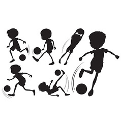 Doodle design of the soccer players vector image