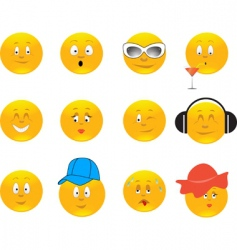 smiles illustration vector image