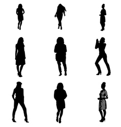Women silhouettes vector