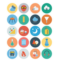 Flat science and technology icons 5 vector