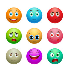 Smile set balls vector
