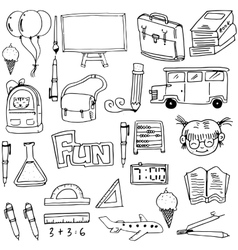 Object school education doodles vector