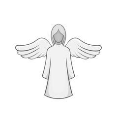 Angel icon black monochrome style vector