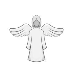 Angel icon black monochrome style vector image