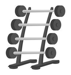 barbell stand cartoon vector image
