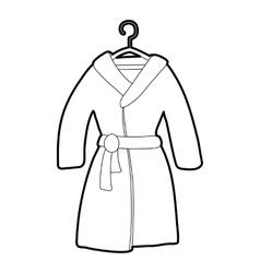 Bathrobe icon outline style vector image