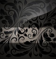 Black seamless floral wallpaper vector