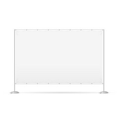 Blank banner billet press wall vector