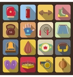 Box fight icons vector