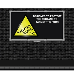 Budget cuts advertising board vector