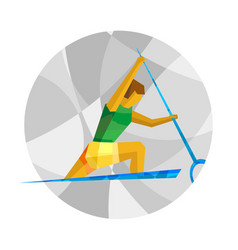 Canoe sprint with abstract patterns vector