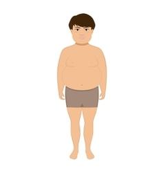 Cartoon little cute fat boy vector