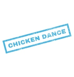 Chicken dance rubber stamp vector