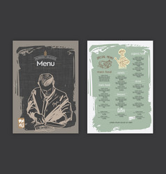 creative menu design vector image vector image