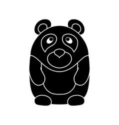 Cute little cartoon Panda vector image