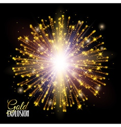 Festive Gold glitter particles effect Shiny shape vector image vector image