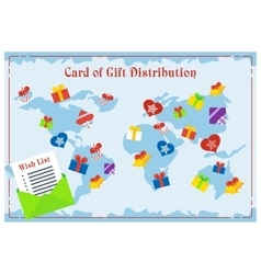Gift card distribution vector