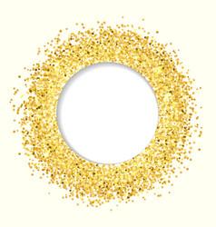 Golden glitter banner vector