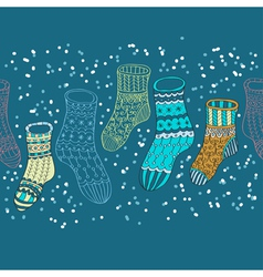 Hand drawn socks vector