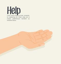 Hands human help icon vector