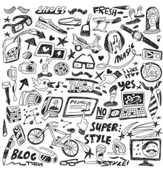 hipsters - doodles vector image vector image