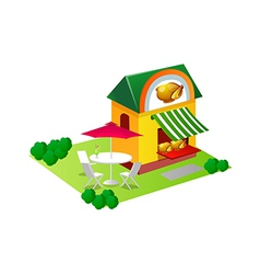 Icon chicken house vector