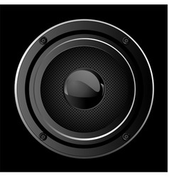 Illustration of black sound speaker vector